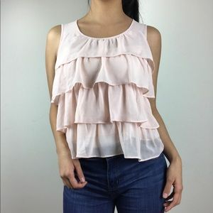 Light pink ruffle tank!!