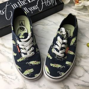 Kids Vans Crocodiles Print