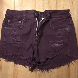 American Eagle burgundy shorts!