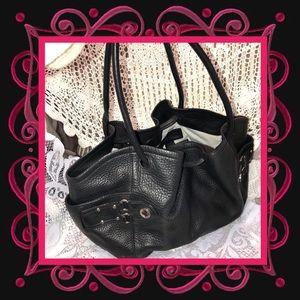 Cole Haan Blck Leather Shoulder Bag GOOD CONDITION
