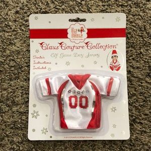 Elf on the Shelf Claus Football Jersey NEW