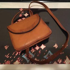 Vintage brown leather crossbody