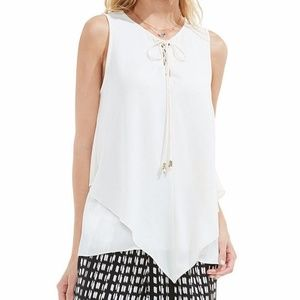Vince Camuto Sleeveless Handkerchief Lace-Up