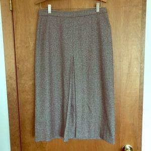 J. Crew Center Pleat Skirt — Size 8
