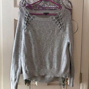 Express grey knit sweater