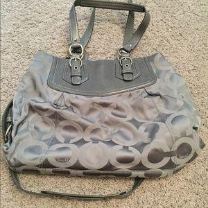Grey coach purse