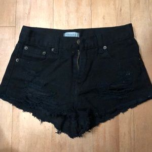 Forever 21 black distressed shorts!