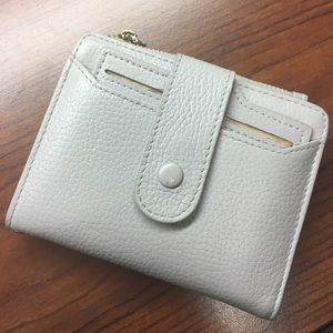 Mini Soft Leather Wallet Grey