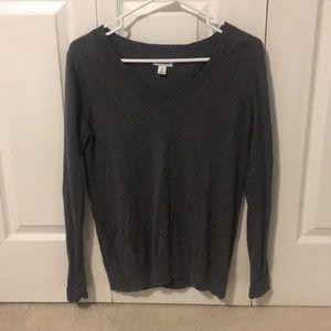 Simple Grey V-Neck Sweater - Like new - Medium