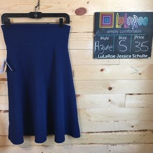 Small navy azure skirt
