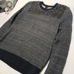 Embellished J.Crew Sweatshirt