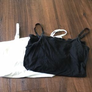 Two Old Navy nursing camisole tank