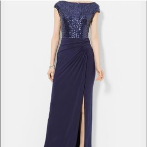 Beautiful blue sequenced evening gown!