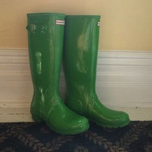 Green Hunter Wellies