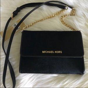 Rare Michael Kors French binding crossbody bag