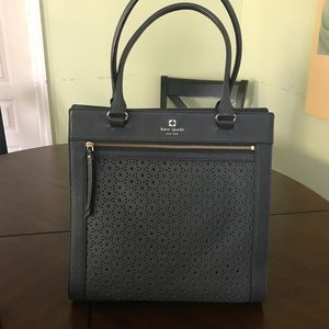 Navy blue Kate spade cut out tote bag