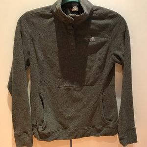 Soft Grey North Face Pullover