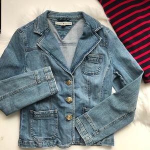 Vintage Tommy Stretch Denim Blazer