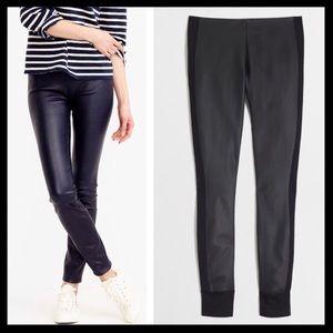j. crew // faux leather gigi pants ponte stripe