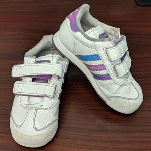 7k girls adudas holographic purple sneakers