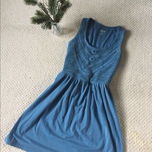 Mossimo Supply Co Crochet Top Blue Tank Dress
