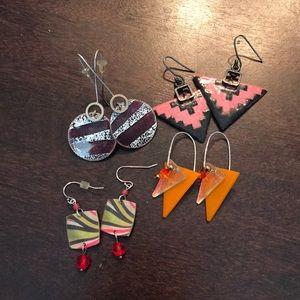 Jewelry - Geometric earring bundle