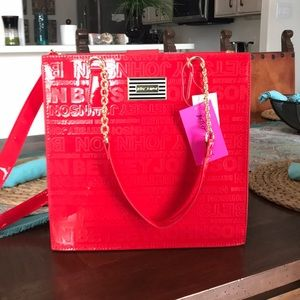 NWT Betsey Johnson Crossbody & Shoulder Bag RED