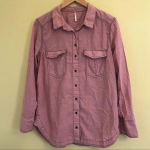 Free People Buttondown Top, size M