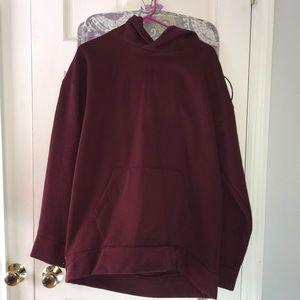Long maroon hoodie from H&M