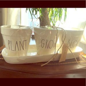 Rae Dunn Plant Grow Bloom Large Letter Potted Set