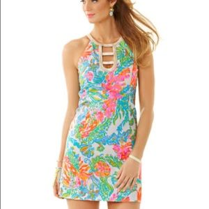 Lilly Pulitzer Kennedy Cut Out Shift Dress EEUC