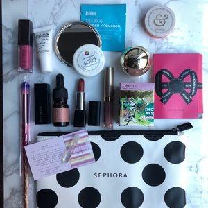 15 pc NWT Travel Makeup/ skin stocking stuffer set