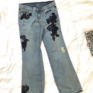 Sz 6 Embellished Ripped Jeans X2 Denim Laboratory