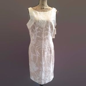 MAGGY LONDON Safari Print Beaded SLEEVELESS Dress