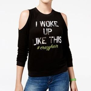 DreamWorks Trolls Cold-Shoulder Graphic Sweatshirt
