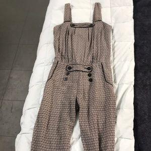 Anthro Daughters of the Revolution jumpsuit