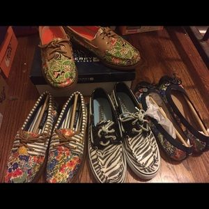 NIB Sperry shoes US 7 liberty & zebra print
