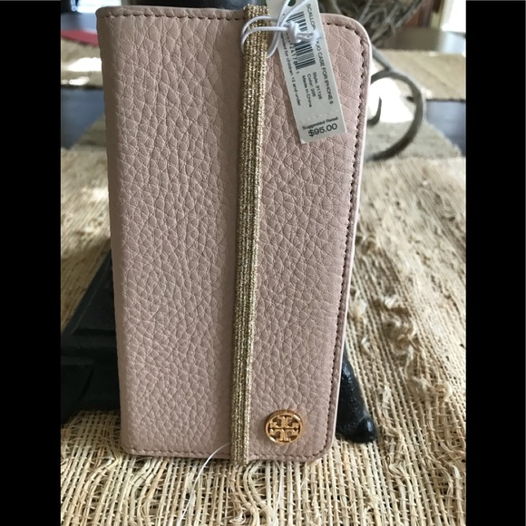 purchase cheap f71e7 21036 New Authentic Tory Burch Folio Case iPhone 6/7 NWT