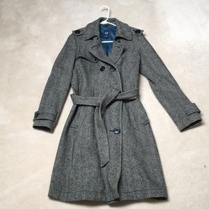 Gap classic trench coat wool gorgeous