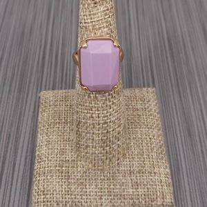 J. Crew lilac faceted ring