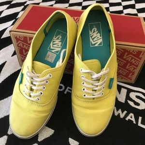 Vans Authentic Lo Pro - (Pop Yellow/Cyan Blue)  8W