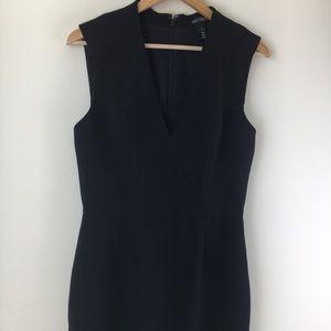 WHBM Womens Sheath Midi Dress Black SZ 10
