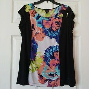 Silky flower blouse