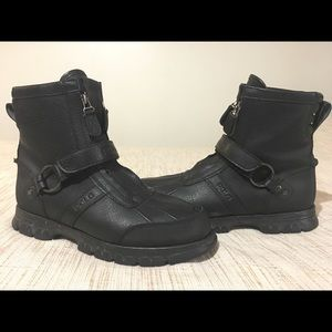Ralph Lauren Conquest Hi 2 leather polo boots