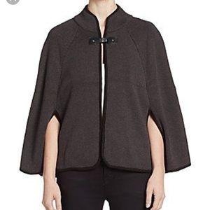 Calvin Klein Gray Rauna Cape Capelet Sweater