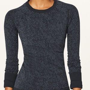 Lululemon Rest Less Pullover size 8 black and blue
