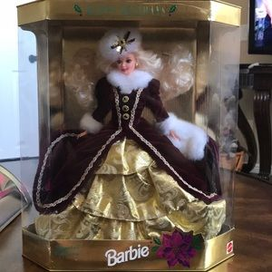 Never opened holiday Barbie