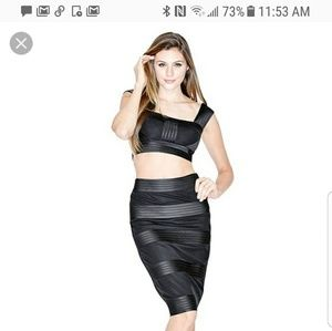 Marciano Limited Edition Crop top and Skirt
