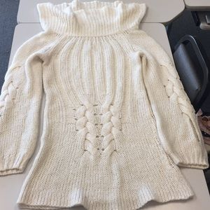 Arden B white sweater dress