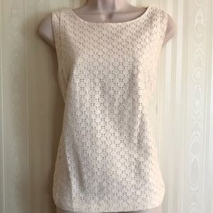 LOFT off-white patterned cami top NEVER WORN